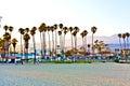 Scenic pier in santa barbara sunset Royalty Free Stock Photography