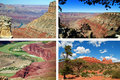 Scenic red sandstone landscape from grand canyon Royalty Free Stock Photography