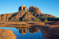 Scenic reflection iconic cathedral rock near sedona arizona Stock Photography