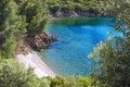 Scenic Remote Beach In Greece