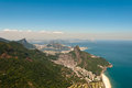 Scenic rio de janeiro aerial view beautiful with mountains ocean urban areas corcovado and sugarloaf Stock Photo
