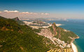 Scenic rio de janeiro aerial view beautiful with mountains ocean urban areas corcovado and sugarloaf Royalty Free Stock Images