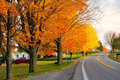 Scenic Road in fall Stock Photography