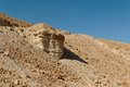 Scenic rock in stone desert Stock Photos