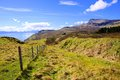 Scenic scottish highlands view of the coast of the isle of skye scotland during spring Royalty Free Stock Photography