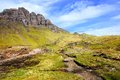 Scenic scottish highlands view of the of the isle of skye scotland during spring Royalty Free Stock Images