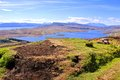 Scenic scottish lochs aerial view over the of of the isle of skye scotland Royalty Free Stock Images