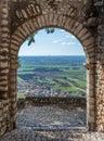 Scenic sight in Sermoneta, medieval village in Latina Province, Italy Royalty Free Stock Photo