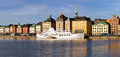 Scenic Stockholm waterfront panorama. Royalty Free Stock Image