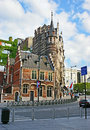 The scenic street brussels belgium june unusual art nouveau mansions located on coudenberg it s neighborhood of museums art Stock Photo