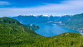Scenic summer mountain hiking landscapes Canada Royalty Free Stock Photo