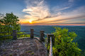 Scenic Sunset, Appalachian Mountains, Kingdom Come State Park, Kentucky Royalty Free Stock Photo