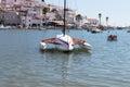 Scenic view of boats in Ferragudo, Algarve Royalty Free Stock Photo