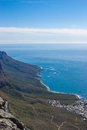 Scenic view in cape town table mountain south africa from an aerial perspective Stock Image