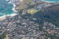 Scenic view in cape town table mountain south africa from an aerial perspective Stock Photography