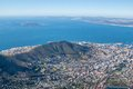 Scenic view in cape town table mountain south africa from an aerial perspective Stock Images