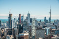 Scenic view of downtown toronto cityscape ontario canada during a sunny day Royalty Free Stock Photo
