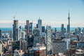 Scenic view of downtown toronto cityscape ontario canada during a sunny day Royalty Free Stock Images