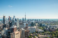 Scenic view of downtown toronto cityscape ontario canada during a sunny day Royalty Free Stock Photography