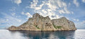 Dragonera Island from seaside, Mallorca - Spain Royalty Free Stock Photo