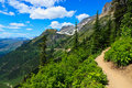 Scenic view, Highline trail, Glacier National Park Stock Photography