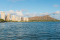 Scenic view of honolulu city and diamond head waikiki beach hawaii usa Stock Image