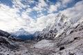 Scenic view at Khumbu valley in Himalayas Royalty Free Stock Photo