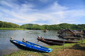 Scenic view of the lake at Huai Krathing Royalty Free Stock Photography