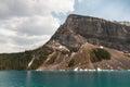 Scenic view  of Lake Louise mountains Royalty Free Stock Photo