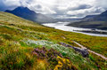 Scenic view of the lake and mountains inverpolly scotland united kingdom Stock Image