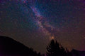 Scenic view of Milky Way   and star over Diablo lake in North Cascade national park,Wa,USA.. Royalty Free Stock Photo