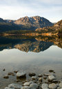 Scenic view of a Mountain and Lake with Reflection Royalty Free Stock Photo