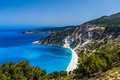 Scenic view of Myrtos beach , Kefalonia Royalty Free Stock Photo