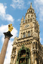 Scenic view of new town hall in marienplatz bavaria munich germany Royalty Free Stock Photography