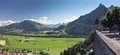 Scenic view from old castle, Gruyere (Switzerland) Stock Photography