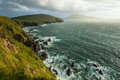 Scenic view over West coast of Ireland on Dingle peninsula Count Royalty Free Stock Photo