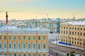 Scenic view of the Palace square in St. Petersburg Royalty Free Stock Photo