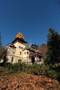 Scenic view of pelesor castle sinaia city romania pelisor is a small built in the park peles in prahova valley built between and Stock Photography