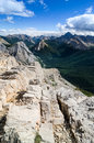 Scenic view of Rocky mountains range in Jasper NP, Canada Royalty Free Stock Photo