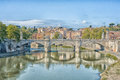 Scenic view of Rome Tiber river Royalty Free Stock Photo