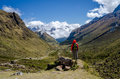 Scenic view on the Salkantay trek