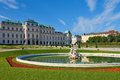 Scenic view of summer palace belvedere in vienna austria Stock Photos