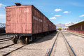 Scenic view of tracks at Nevada Northern Railway Museum, East Ely Royalty Free Stock Photo