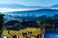 Scenic view of traditional thai china yunnan village in the morning thailand Stock Photography