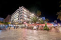 Scenic view of turistic boulevard in puerto de la cruz at nigh in tenerife spain is a famous touristic Royalty Free Stock Photo