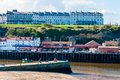 Scenic view of whitby city in autumn sunny day north yorkshire uk october s attraction as a tourist destination is Royalty Free Stock Photography