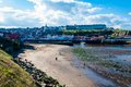 Scenic view of whitby city in autumn sunny day north yorkshire uk october s attraction as a tourist destination is Royalty Free Stock Image