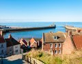 Scenic view of whitby city in autumn sunny day s attraction as a tourist destination is enhanced by its association with Royalty Free Stock Images