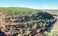 Scenic View: Z-Bend, Kalbarri National Park Royalty Free Stock Photo