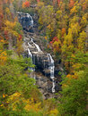 Scenic waterfall in autumn Stock Photography